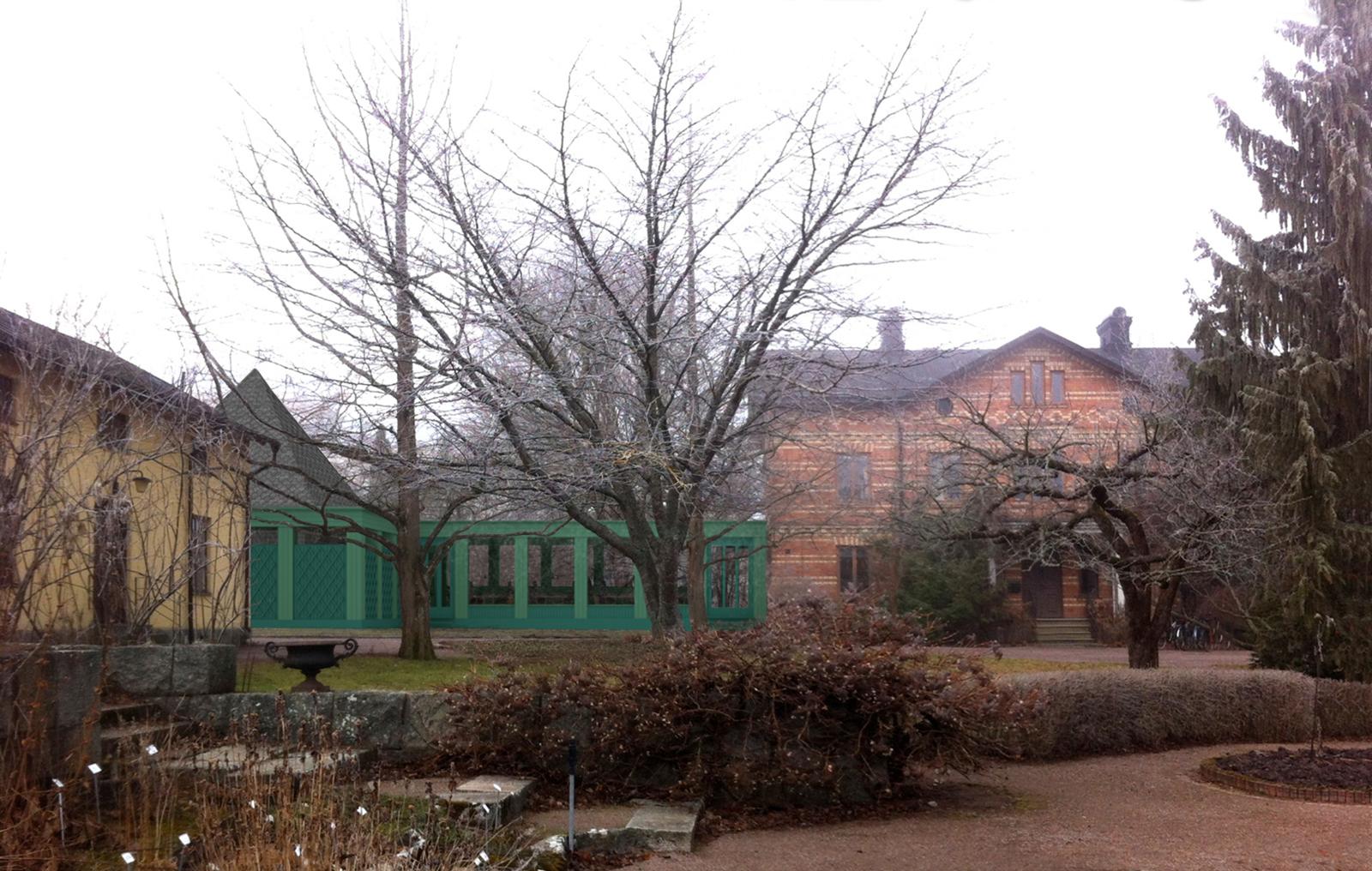 Trädgårdsvillan från öster